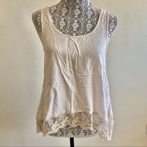 American Eagle Lace Flowy Tank Size Small